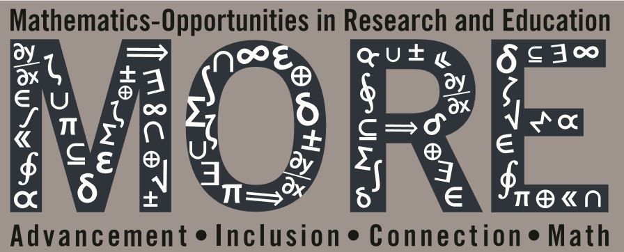 We Want MORE!              MORE: Mathematics - Opportunities in Research and Education